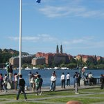 Вид от ратуши на озеро и Стокгольм