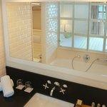 Baño habitaciones vista mar confort