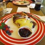 Pancakes mit Bluberries