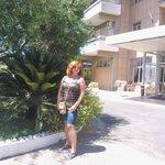 Рядом со входом в отель