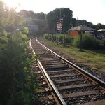 Train Tracks running along side