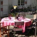 breakfast  en terrasse