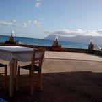 Vista dal terrazzo esterno delle colazioni