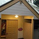 Sunset cottage entrance