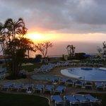 Sonnenuntergang vom Balkon aus gesehen