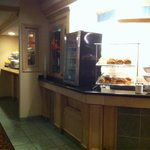 Very nice breakfast bar - lots of choices