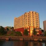 Holiday Inn at sunset