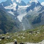 Gesamtblick mit Tschierva-Gletscher von der Fuorcla Surlej aus