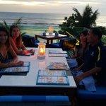 Roof top restaurant at sun set
