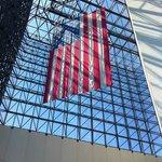 Flag in atrium