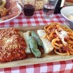 Trio of pasta sampler