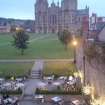 Wells Cathedral and part of the hotels outside space