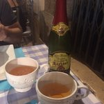 Cider served in teacups! I quizzed them as to why so that it could include it in my blog review.