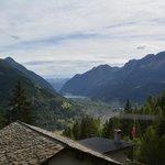 Poschiavo, view from the Bernina Express train