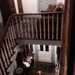View from top of stairs in main house.