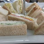 Finger sandwhiches. Bread was dried out when served.
