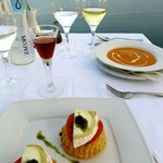 Lobster Bisque and Goat Cheese Stuffed Pastry