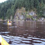 Cliffs in Indian Bay, Canada
