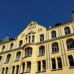 Look up to see Riga's Cat House