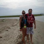 Capers Island with my daughter