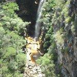 Cachoeira vista de cima