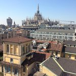Great view of the Duomo from the rooftop lounge area.