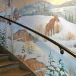 mural along stairs