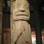 Totem Pole inside the museum.