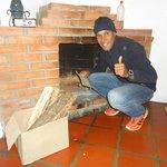 Encendiendo la chimenea