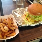 Original burger and rosemary fries fried in aged beef fat