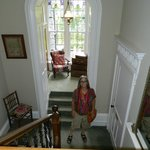 Staircase of The Grange. looking toward marvelous little sitting nook.