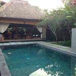 Pool & huge outdoor seating area