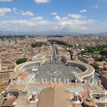 View from the top of St Peters dome.