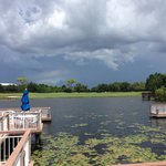 View from the main pool - an afternoon storm was brewing