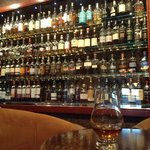 The Malt whisky selection is extensive but a bit pricey at £35 for a sigle shot of 18 year old H