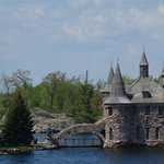 Thousand Islands - views of Boldt Castle from boat trip