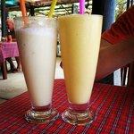 Banana and Pineapple shakes