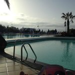 Pool in morning