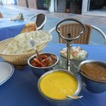 Pickle tray and poppadoms