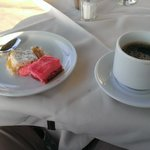 Coffee and sweets from the buffet