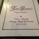 Zack Garvin's Original Steak House