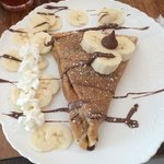 Banana and Nutella crepe. If loving this is wrong then I don't wanna be right.
