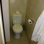 toilet in narrow space