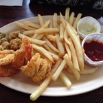 Fried special- 3 shrimp, 3 oysters and fries