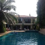 The lovely pool area