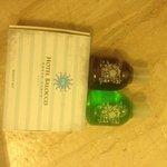 Hotel Provided Shampoo, Gel, Beauty Kit