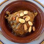 Chicken and almond tagine