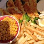 Pan fried lake perch