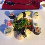 Vegetarian sushi at the Japanese