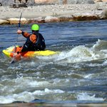 Learn on small areas of  whitewater in your kayak